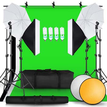 3. SH Studio Umbrellas Softbox Continuous Lighting Kits