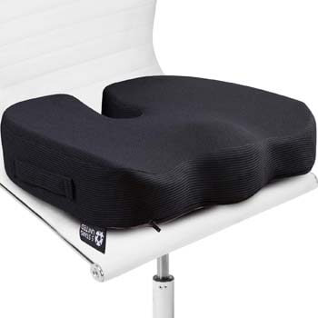 6. Seat Cushion Pillow for Office Chair - 100% Memory Foam Firm Coccyx Pad
