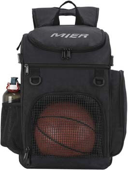 8. MIER Basketball Backpack Large Sports Bag for Men Women with Laptop Compartment, Best for Soccer, Volleyball, Swim, Gym, Travel, 40L