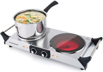 7. Techwood Hot Plate Portable Electric Stove