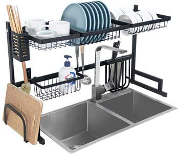 2. Ctystallove Over the Sink Dish Drying Rack