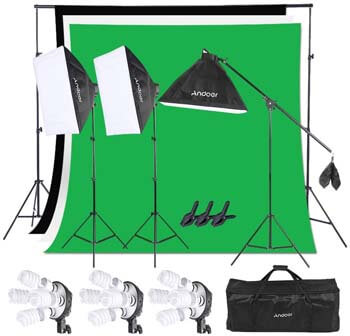 9. Andoer Photography Studio Softbox Lighting Kit