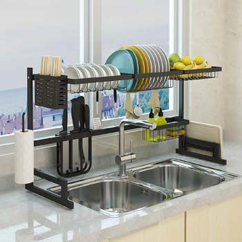 10. Home Key Over the Sink Dish Drying Rack