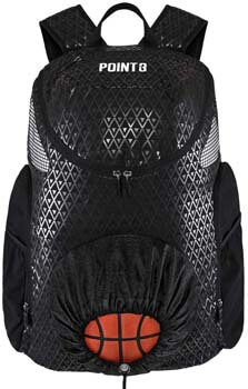1. Road Trip 2.0 Basketball Backpack Sports Athletic Bag with Built in Compartments for Basketball, Shoes, Water