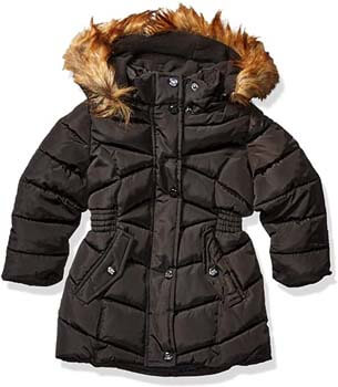 2. Steve Madden girls Long Outerwear Jacket