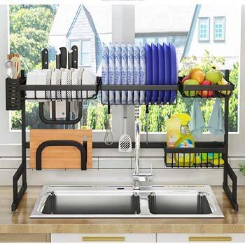 7. ADBIU Over The Sink Dish Drying Rack