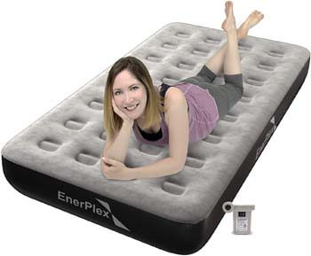 9. EnerPlex Never-Leak Camping Series Twin Camping Airbed