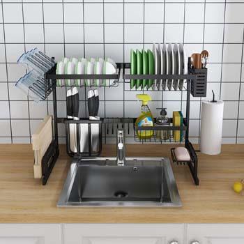 8. Skywin Kitchen Dish Rack Over Sink