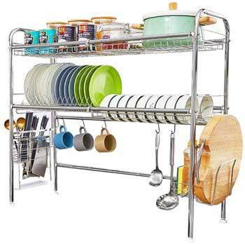 3. HEOMU Over The Sink Dish Drying Rack
