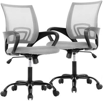 8. BestOffice Chair Desk Chair Computer Chair Ergonomic Executive Swivel Rolling Task Chair for Back Support