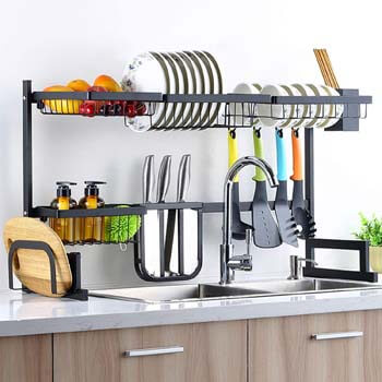 9. Sincalong Over Sink Dish Kitchen Drainer
