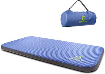 3. QOMOTOP Ultra Thick 4 Seasons Self-Inflating Camping Mattress