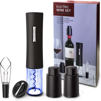 8. Electric Wine Opener, foneta Automatic Wine Bottle Corkscrew Set